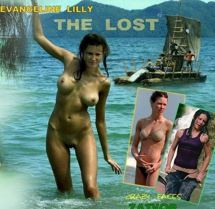 Evangeline Lilly nahá. Foto - 23