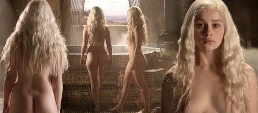 Emilia Clarke nahá. Foto - 5