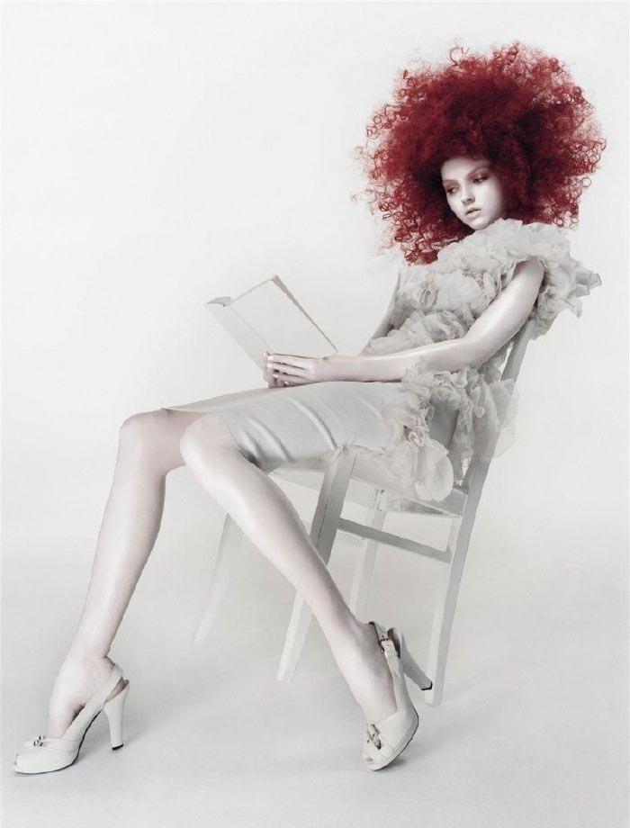 Lily Cole nahá. Foto - 9
