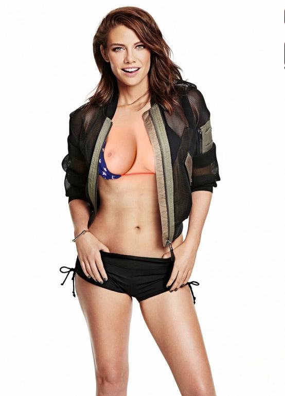 Lauren Cohan nahá. Foto - 30