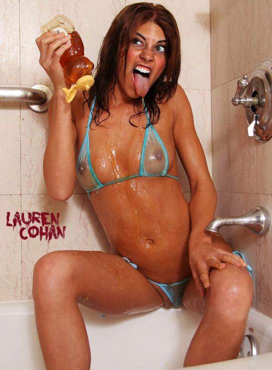 Lauren Cohan nahá. Foto - 52