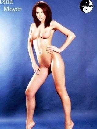 Dina Meyer nahá. Foto - 5