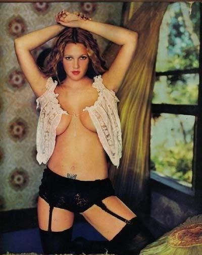 Drew Barrymore nahá. Foto - 12