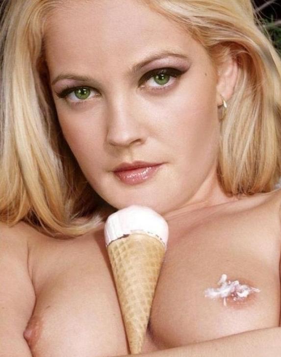 Drew Barrymore nahá. Foto - 36