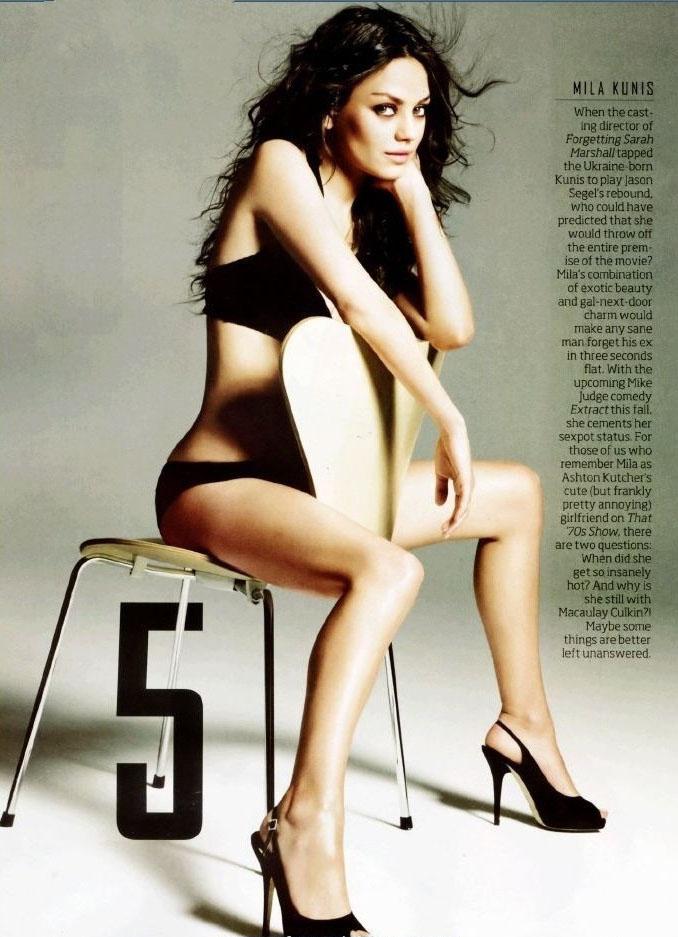 Mila Kunis nahá. Foto - 12